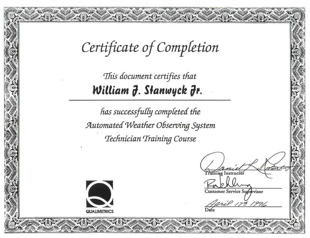 Doc500353 Template Certificate of Completion Free Certificate – Sample Certificate of Training Completion