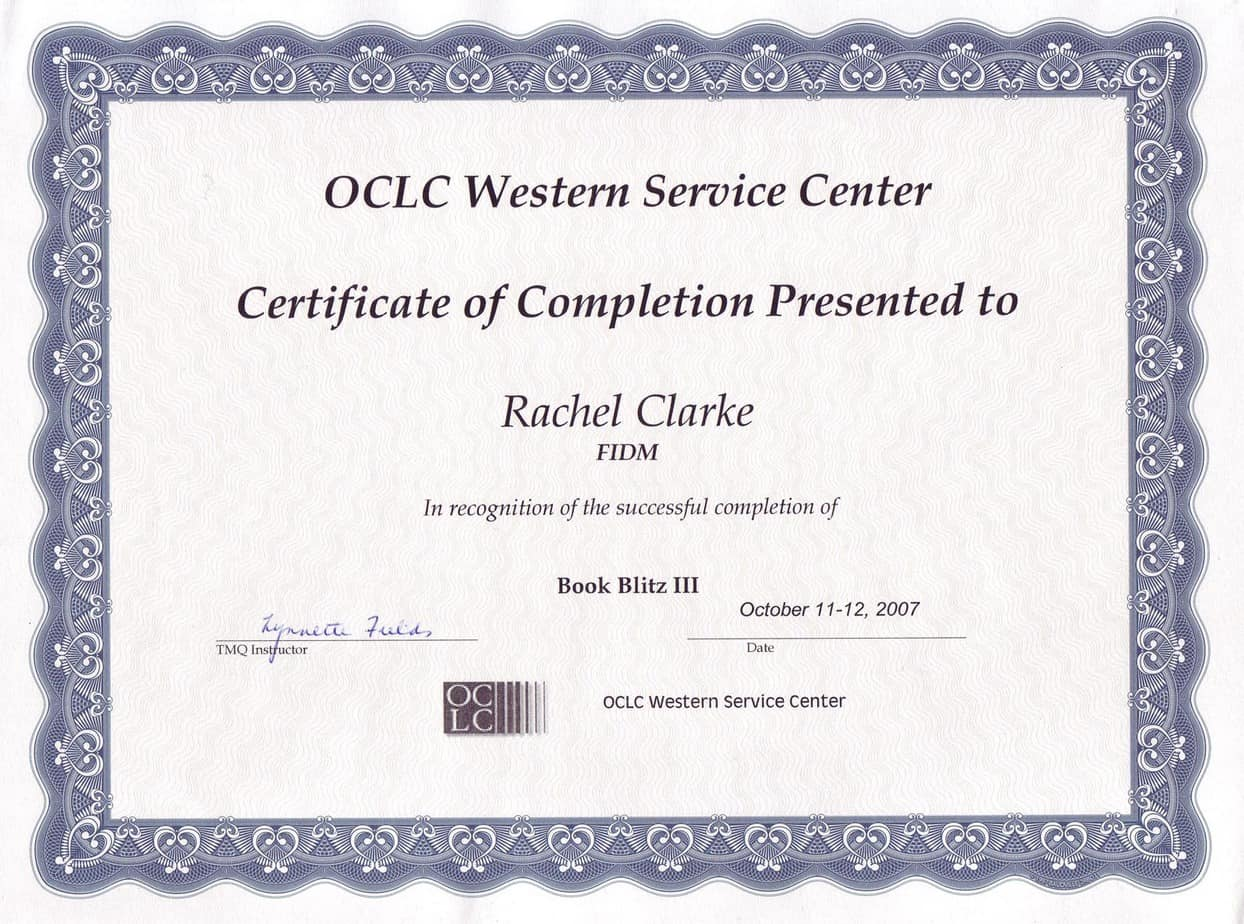 Certificate Of Completion Templates Kenindlecomfortzone
