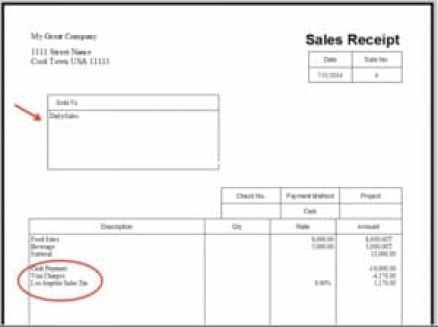 Sales Receipt template 197