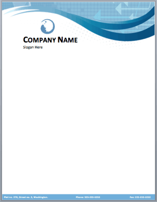 company letterhead template 6154