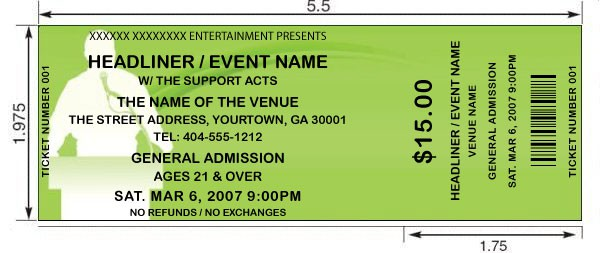 Superior Event Ticket Template 124 Ideas Fundraiser Ticket Template Free Download