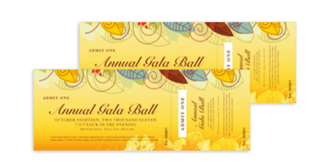 event ticket template 9877