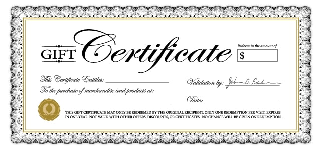 Gift Certififate Template 7846  Gift Certicate Template