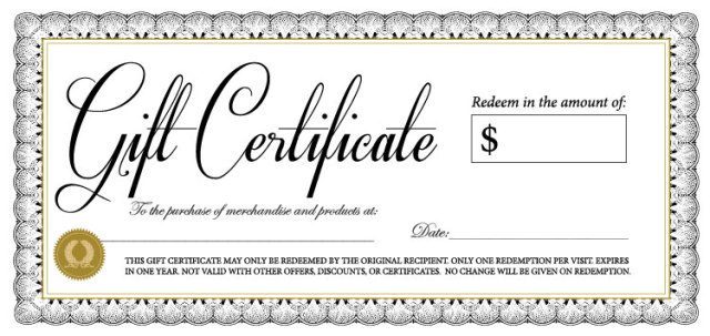 gift certififate template 879