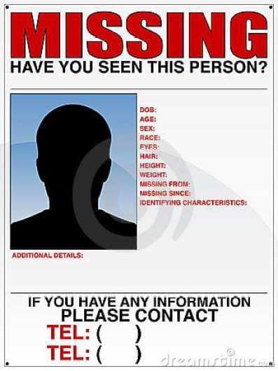 missing person poster template 8547