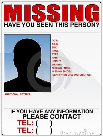 Captivating Missing Person Poster Template 8547 In Missing Person Poster Template