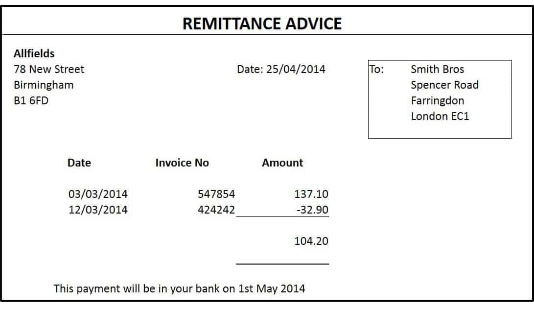 Remittance Advice Template remittance template 8787 form related – Remittance Advice Template