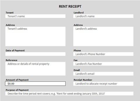 Rent Receipt Template Microsoft Word Rent Receipt Templates Word