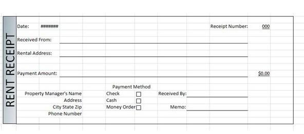 rent receipt template 5665