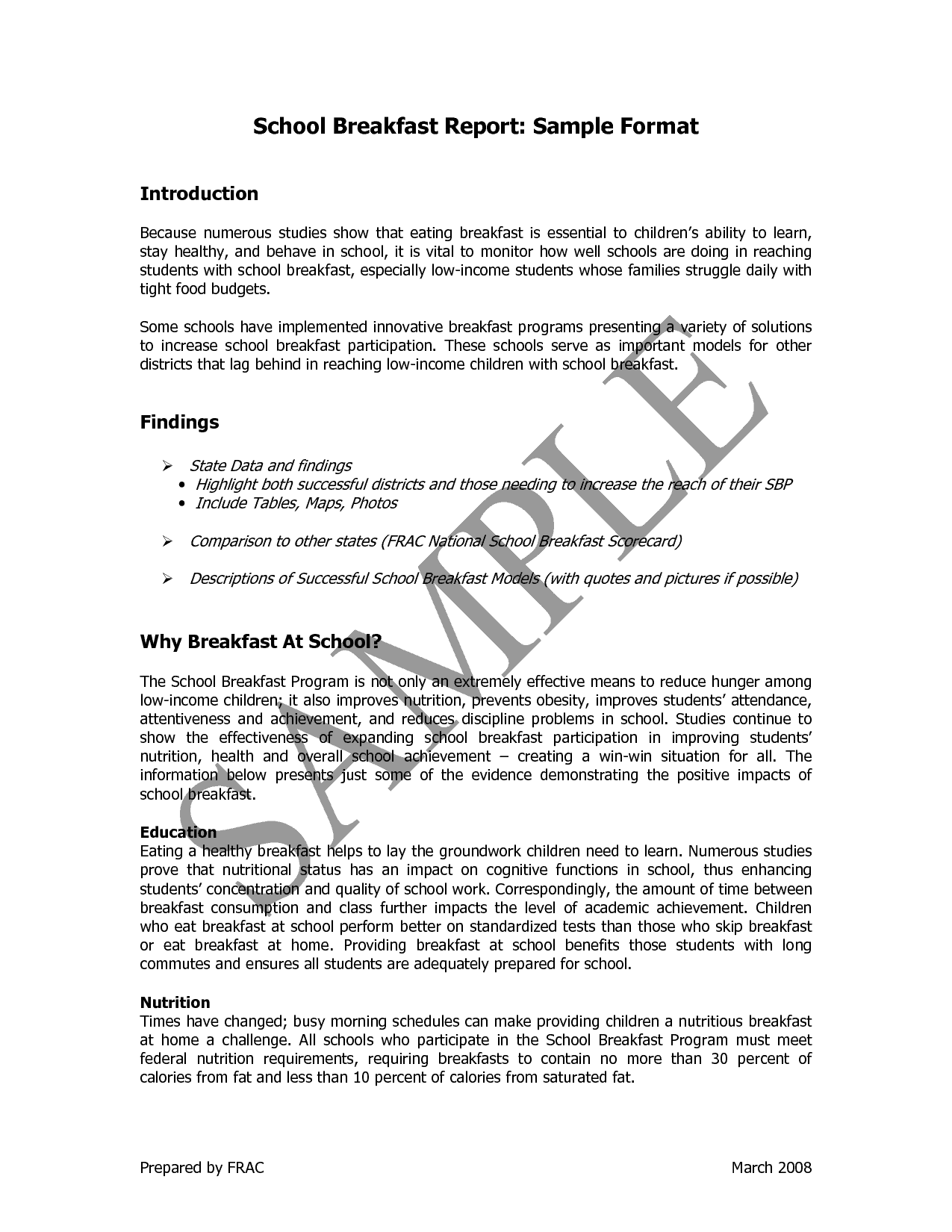 it report writing sample Report writing: a science report (oxford brookes university) this model outline for a science report is used in life sciences,  report writing: for business students.