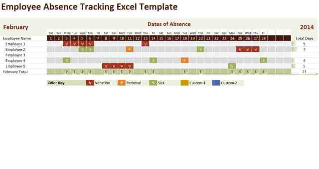 Employee Tracking template 4478