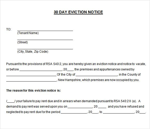30 Day Notice Image 44  How To Make A Eviction Notice