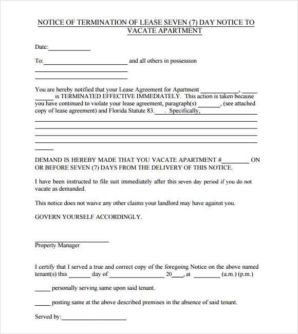 evictio notice vacate image 88
