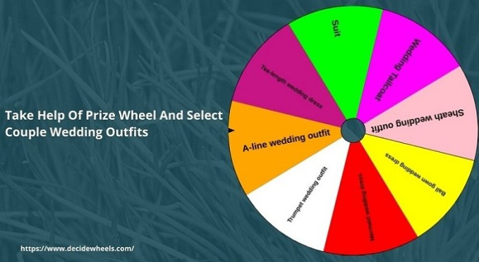 Take Prize Wheel And Select Couple Wedding Outfits