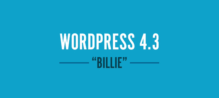новая версия 4.3 WordPress