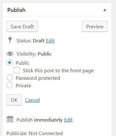 wp personal pages or hidden page