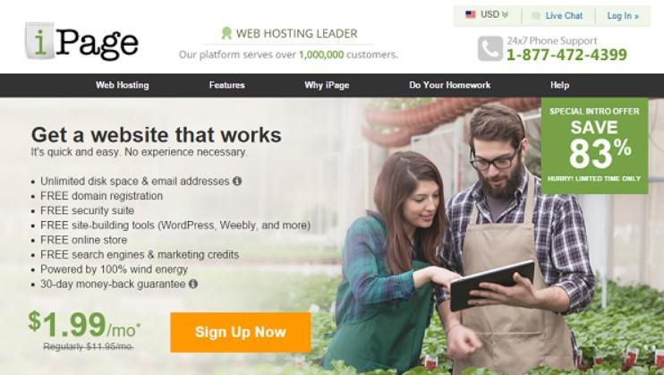 ipage plans gren hosting