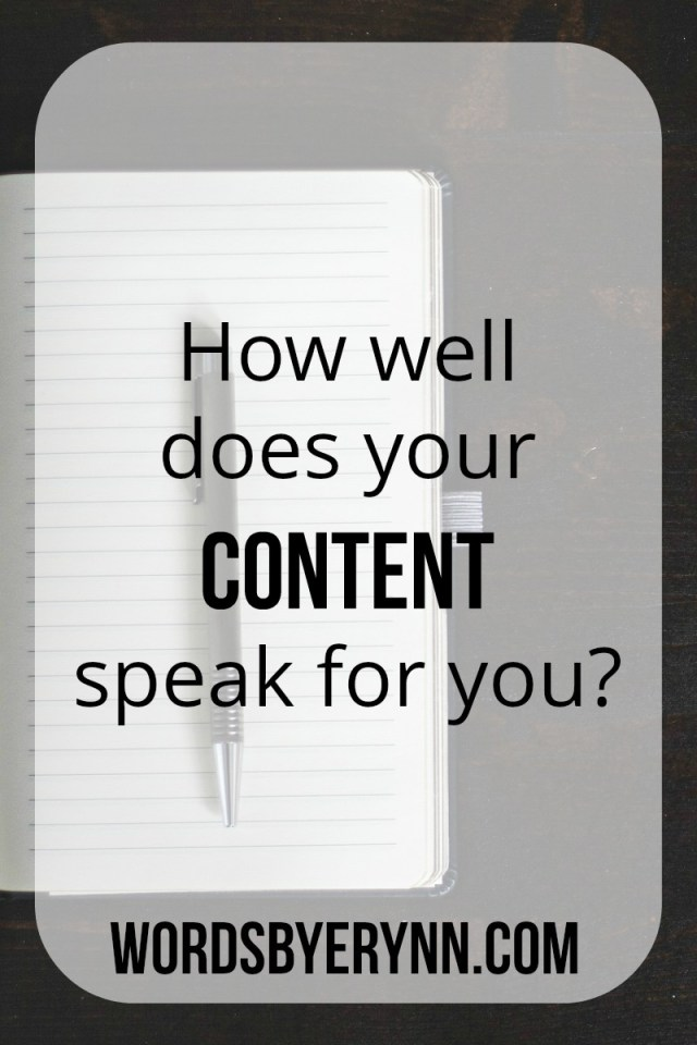 How well does your content speak for you?