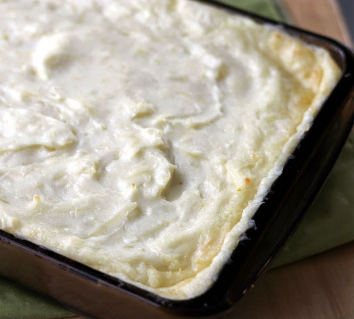 Baked Mashed Potatoes with Monterey Jack Cheese