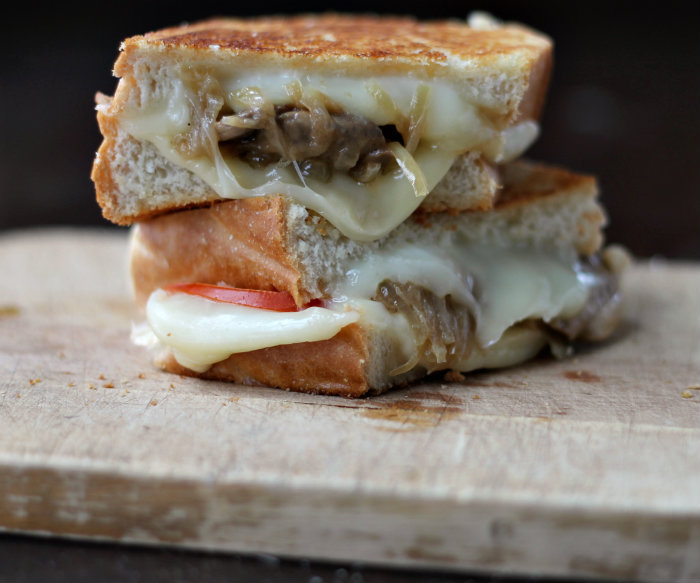 the top grilled cheese… grilled cheese with beer caramelized onions ...