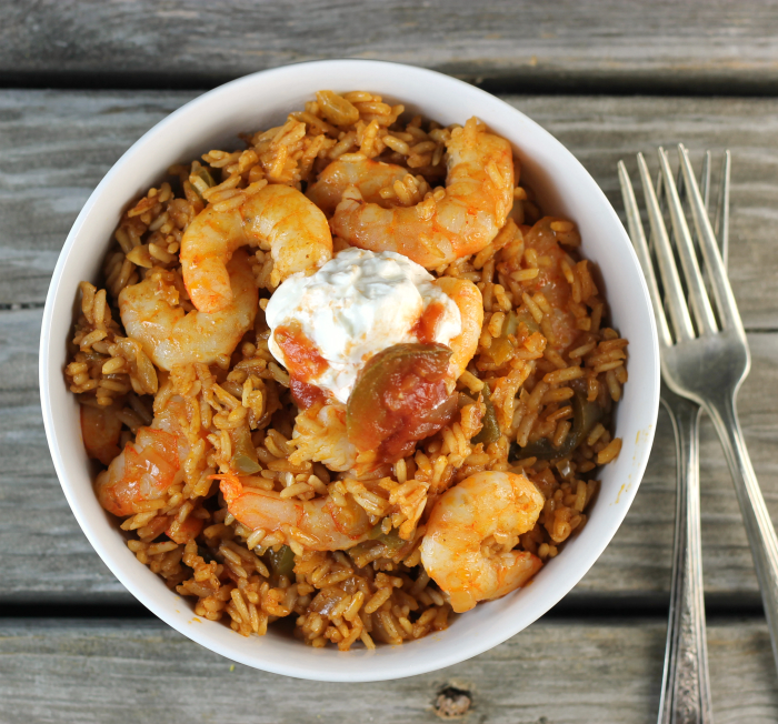 Mexican Shrimp Fried Rice