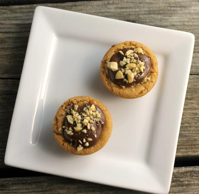 Caramel Stuffed Peanut Butter Cookie Cups