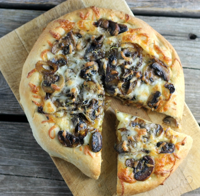 Caramelized Onion & Mushroom Pizza