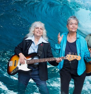 The SeaWaves: Left-Janet Mayes; Right-Jeri Hilderley