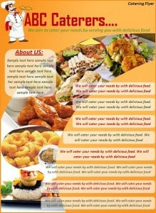 Catering Flyer Template Excel PDF Formats - Catering brochure templates