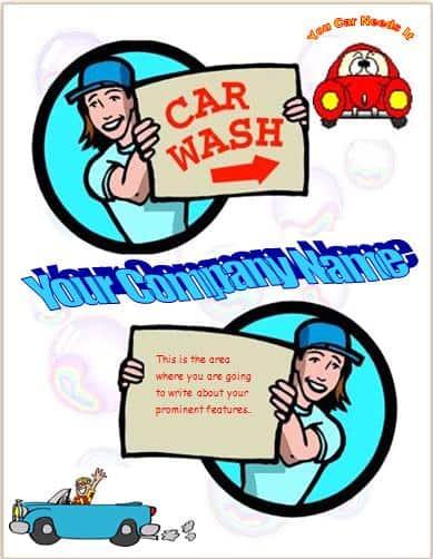 Car Wash Flyer Template Excel Pdf Formats