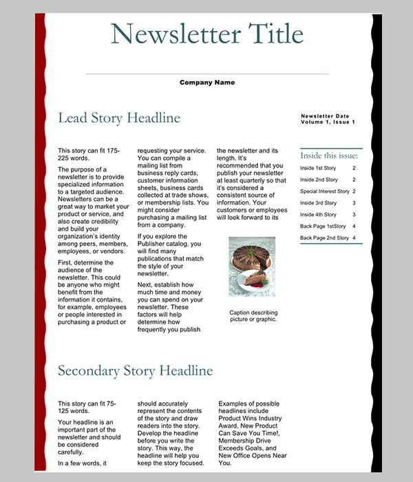 newsletter word template 6