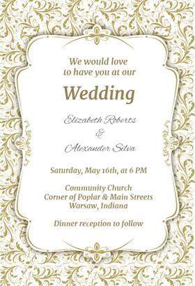 wedding invitation template 2