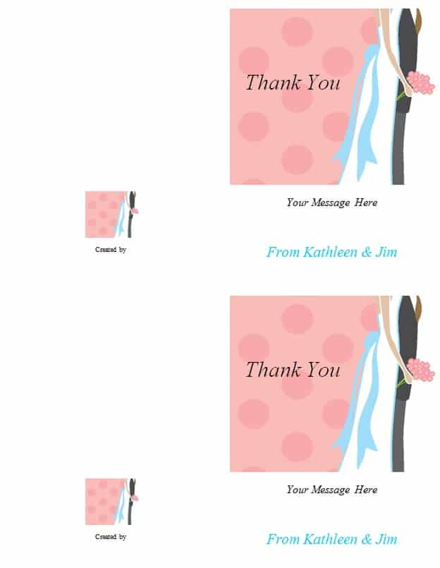 Thank You Note Card Template  Excel Pdf Formats