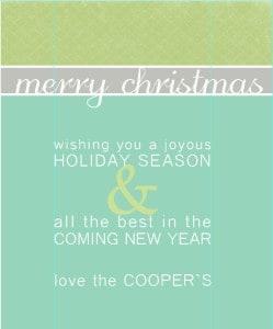 Christmas card templates 1 image