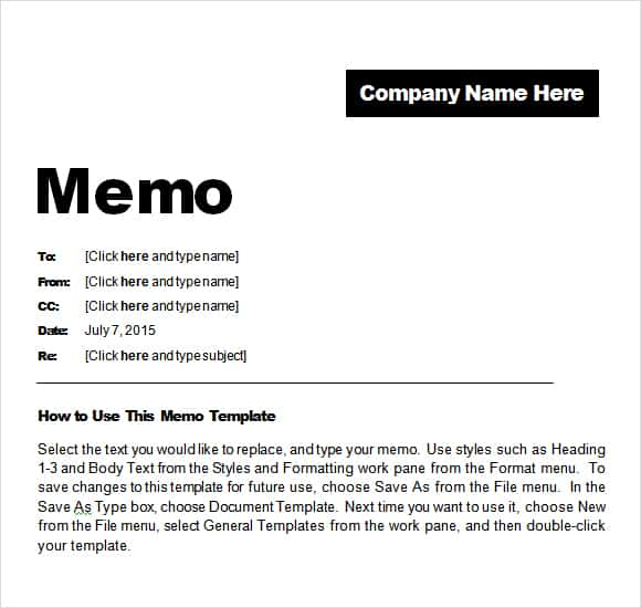 Free Memo Templates Word And Excel - Excel Pdf Formats