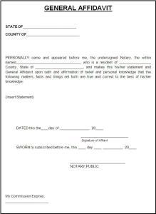 Free Affidavit Form Free Word Templates