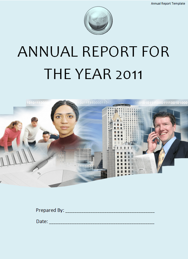 Free Word Templates  Business Annual Report Template