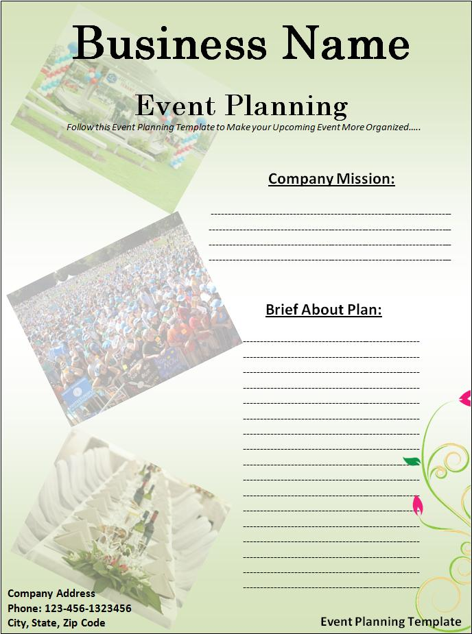 Event Planning Template  Free Word Templates