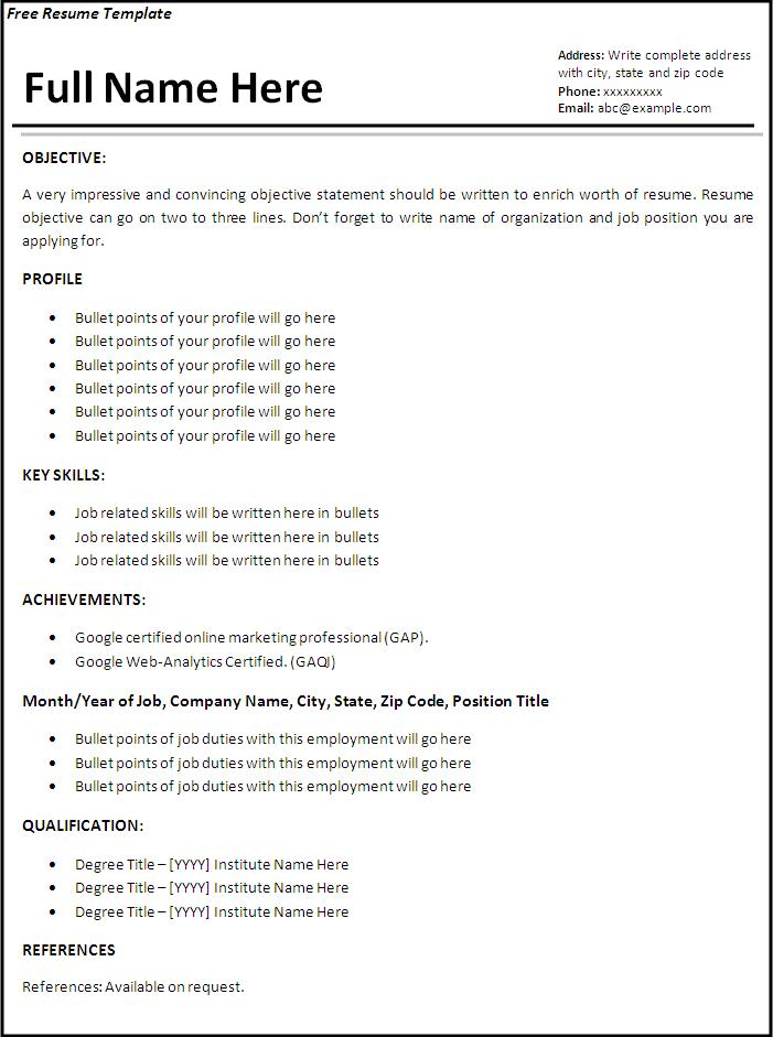 College Application Resume Templates Resume Template For College