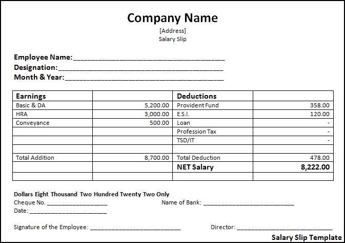 Salary Receipt Template cash receipt voucher template salary pay – Pay Receipt Form