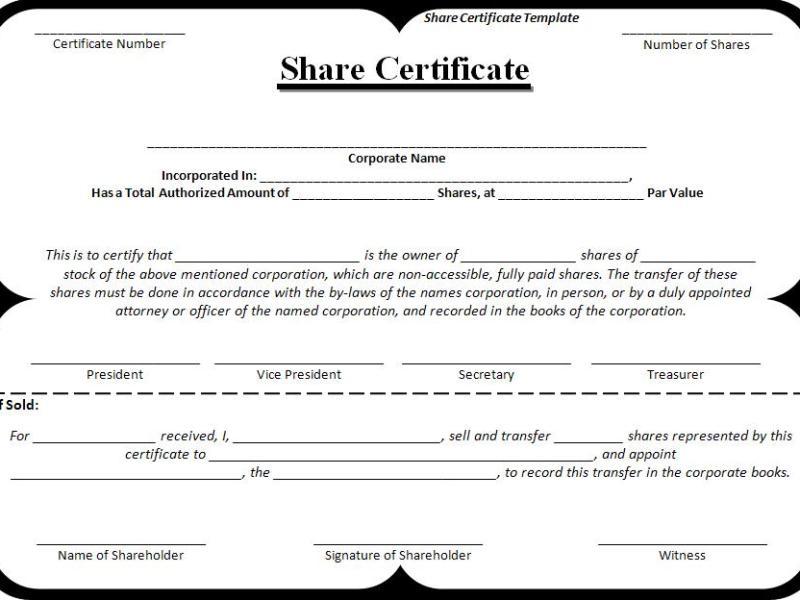 Share-Certificate-Template