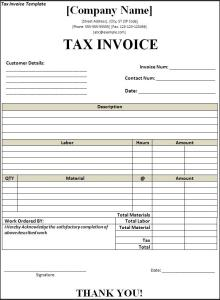 Payment Receipt Template Pdf Word Tax Invoice Template  Free Word Templates Invoice Vs Tax Invoice Word with Ocr Receipts Pdf Tax Invoice Template Receipt Tracking Excel
