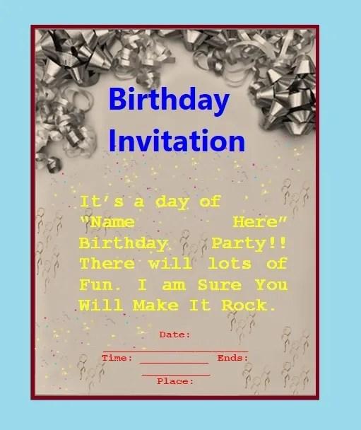 Teens Birthday Invitation Template