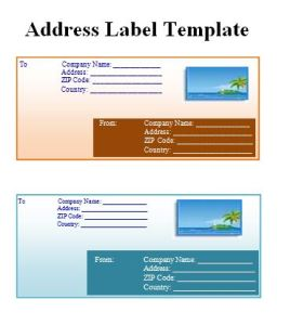 address label template