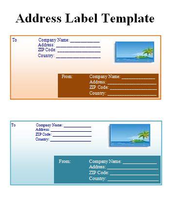 5 address label templates free word templates. Black Bedroom Furniture Sets. Home Design Ideas