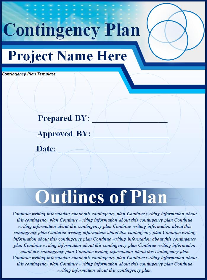 Contingency Plan Example  Free Word Templates