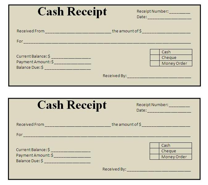 sample voucher receipt