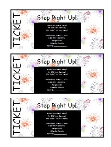 ticket invitation template