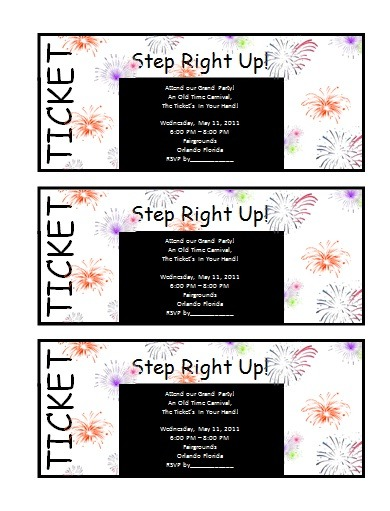 Ticket templates free word templates for Ticket invitation template free