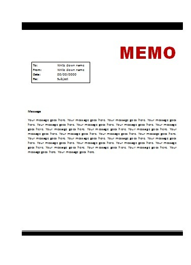 Business Memo Format » How To Format A Business Memorandum - Dummies